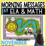 Morning Messages DIGITAL First-Grade NOVEMBER