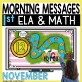 Morning Messages DIGITAL First-Grade NOVEMBER