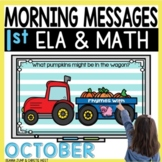 Morning Messages DIGITAL First-Grade OCTOBER