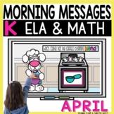 Morning Messages DIGITAL Kindergarten APRIL