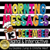Morning Messages DIGITAL Kindergarten DECEMBER