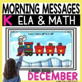 Morning Messages DIGITAL Kindergarten DECEMBER