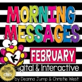 Morning Messages DIGITAL Kindergarten FEBRUARY