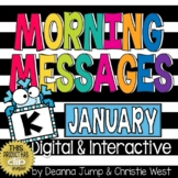 Morning Messages DIGITAL Kindergarten January
