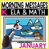 Morning Messages DIGITAL Kindergarten January