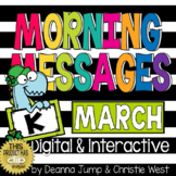 Morning Messages DIGITAL Kindergarten MARCH