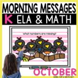 Morning Messages DIGITAL Kindergarten OCTOBER