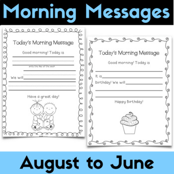 Morning Messages - Daily Messages for August Through June