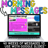 Morning Messages | Digital Agendas | Distance Learning