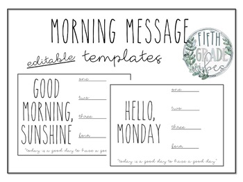 Morning Messages - Dunn Inspired Simplicity
