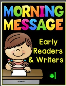 Morning Messages Early Readers Kindergarten First Grade