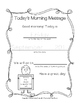Morning Messages {FREEBIE for Back to School}