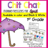Morning Messages First Grade: Chit Chat April