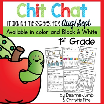 Morning Messages First Grade: Chit Chat August September