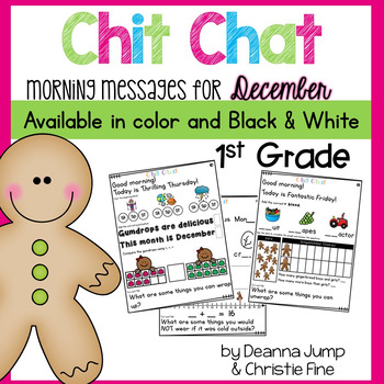 Morning Messages First Grade: Chit Chat December
