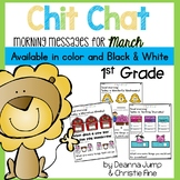 Morning Messages First Grade: Chit Chat March