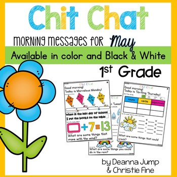 Morning Messages First Grade: Chit Chat May