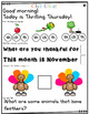 Morning Messages First Grade: Chit Chat November