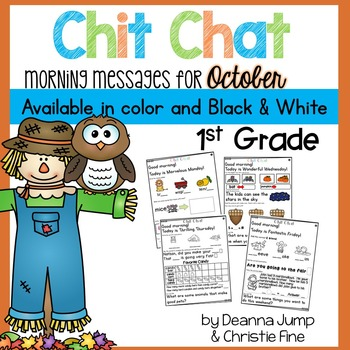 Morning Messages First Grade: Chit Chat October