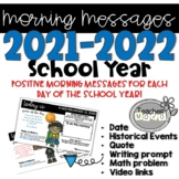 Morning Messages:  Morning Meeting Slides for the Entire 2