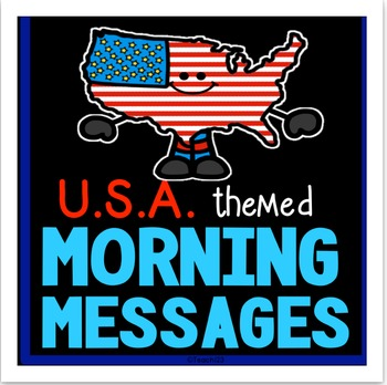 Morning Messages - U.S.A. themed