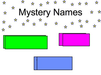 Morning Messages and Mystery Names Chrysanthemum or First Week of School