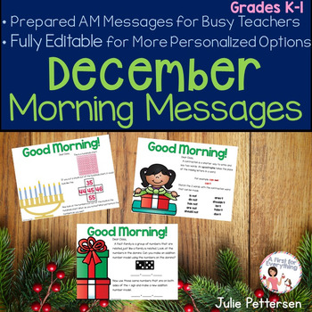 Morning Messages for December Projectable and Editable