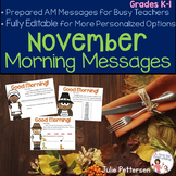 Morning Messages for November Projectable and Editable