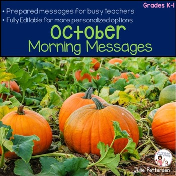 Morning Messages for October (Editable)