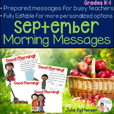 Morning Messages for September Projectable and Editable