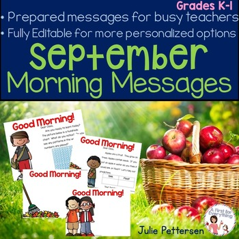 Morning Messages for September (Editable)