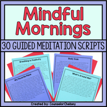 image about Free Printable Guided Imagery Scripts known as Thorough Mornings: 30 Guided Meditation Scripts via