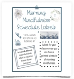 Morning Mindfulness Schedule Labels