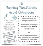 Morning Mindfulness in the Classroom Lesson Plans