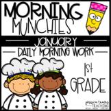 Morning Munchies {1st Grade Morning Work - January}