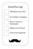 Morning Mustache Checklist