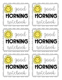 Morning Notebook Label