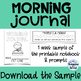 Morning Journal (Prompts and Printables)