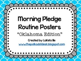 "Morning Pledge Routine Posters ""Oklahoma Edition"" Turquois"