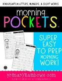 Morning Pockets™ Kindergarten Letters and Numbers (Morning Work)