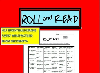 Morning Practice- Roll and Read Blends