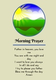 Morning Prayer - Prayer Card / Poster