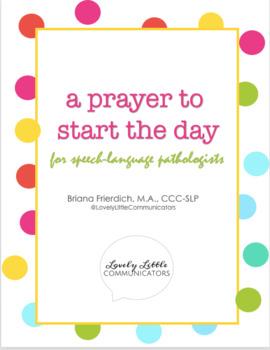 Morning Prayer for Speech-Language Pathologists