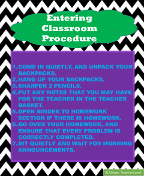 Morning Procedure Poster