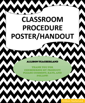 Morning Procedure Poster