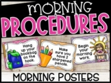 EDITABLE Morning Procedure Posters - Kid Friendly Posters