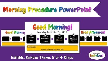 Morning Procedure PowerPoint - Rainbow Theme