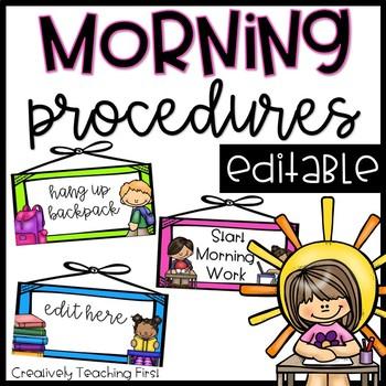 Morning Procedures- EDITABLE