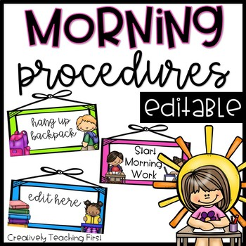 Morning Procedures- EDITABLE