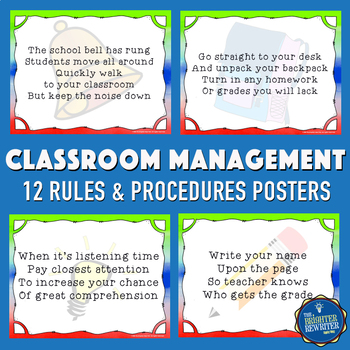 Classroom Rules and Procedures Posters
